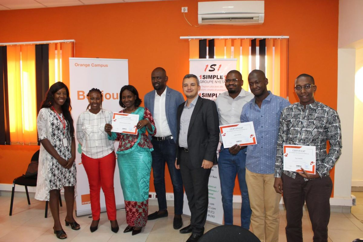Training at Orange Mali/ Seminar 1SIMPLE1 on Digital Marketing.