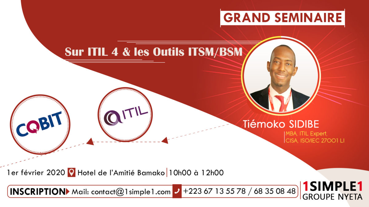Seminar on ITIL 4 and ITSM / BSM tools (only in French)